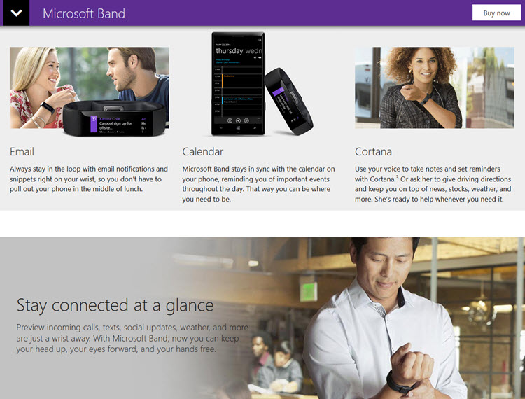 "Microsoft has released the ""Microsoft band"""