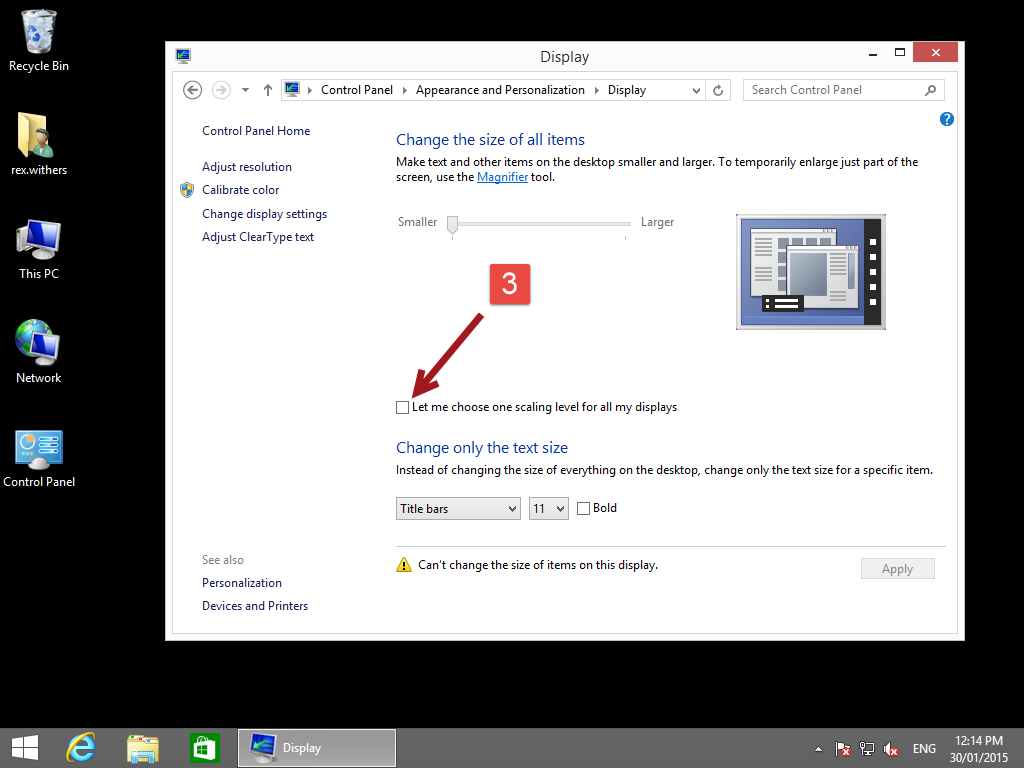 Change windows 8 text size 2