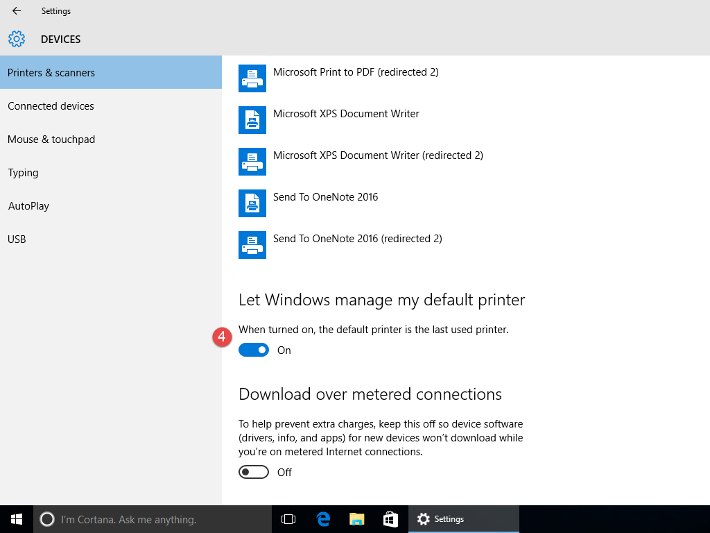 Windows 10 Default Printer 2