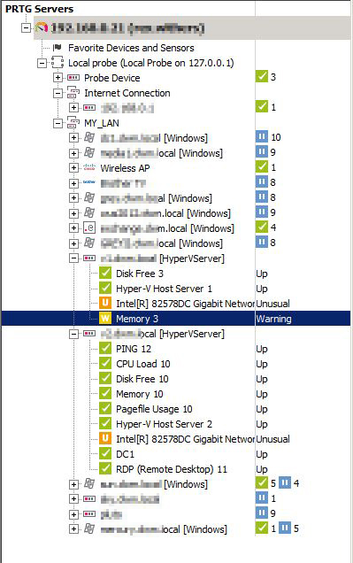 Network/infrastructure monitoring