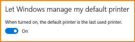 Default printer changing by itself in Windows 10?