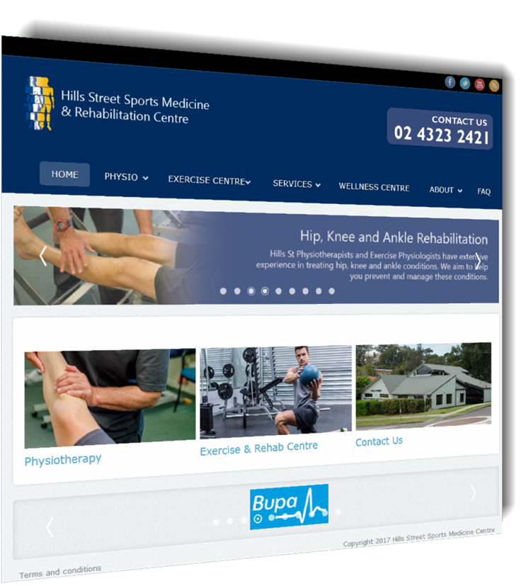 Hills Street Sports Medicine new website