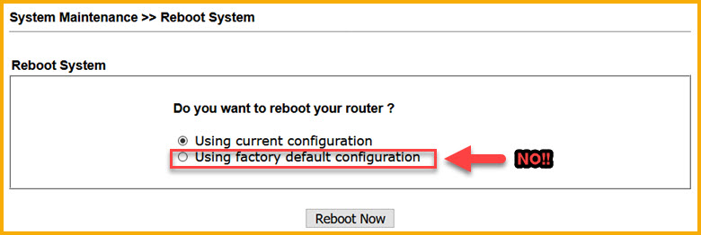 Router reset?