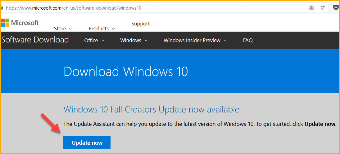 Windows 10 Fall creators update available now